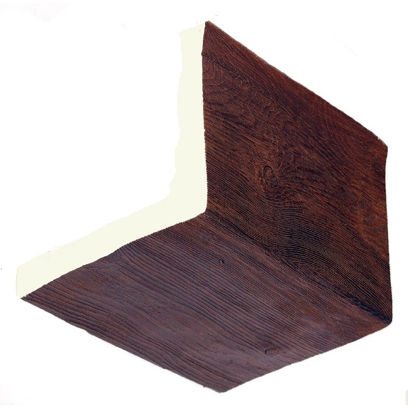 2 vigas en l imitacion madera de poliuretano 29cm de ancho - Vigas de hormigon imitacion madera ...